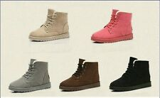 New Women's Fashion Boots Comfort Shoes Flat Lace UP Ankle Winter Warm Snow Boot