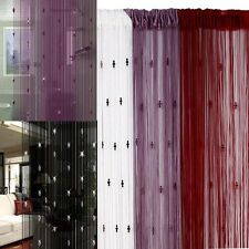 New Elegant Door Room Window Panel Divider Decorative String Curtain With 3Beads