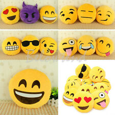 Stuffed Toy Decorative Bed Pillows Emoji Tongue Smiley Emoticon Round Cushion