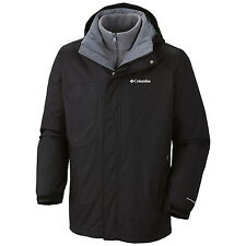 COLUMBIA MENS 3 IN 1 INTERCHANGE  WINTER JACKET/COAT REMOVABLE FLEECE LINER NWT!