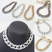 Fashion Vintage Jewelry Pendant Chain Crystal Choker Chunky Statement Necklace