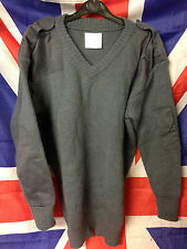 Royal Air Force RAF Surplus Blue Close Knit Wool Pullover / Jumper Various Sizes
