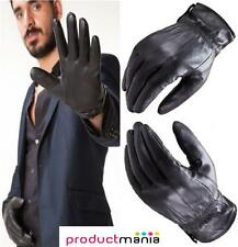 MENS LEATHER GLOVES THINSULATE LINED SOFT WINTER WARM DRIVING REAL LEATHER