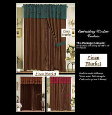 Embroidery Texas Star Window Curtain!- Free Shipping!