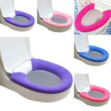 Toilet Cover Potty Bathroom Seat Pads Cozy Candy Colors Washable Warmer