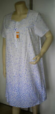 Nightdress. Poly/Cotton, Wht with Blue Spot. By M & S. Size 8 to 22.