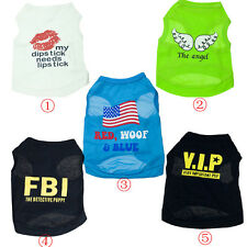 New Arrival For Pet Cat Dog Puppy Lover Gift Clothes Cute Vest T-Shirt Apparel