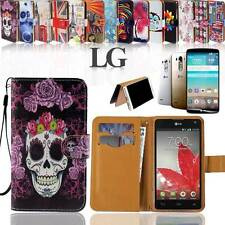 Folio Flip Wallet Card Stand Leather Magnetic Case Cover Fit Various LG Phones