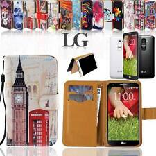 Folio Flip Wallet Card Stand Leather Magnetic Case Cover For Various LG Phones