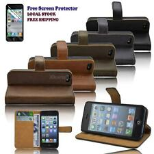 DELICATE New PU Leather Wallet Stand Case Cover for iPhone 5 / 5s FREE Protector