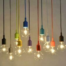 Vintage E27 Home Ceiling Rose Pendant Lamp Light Bulb Silicon Gel Holder 7 Color