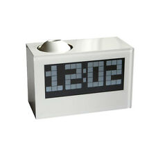 LCD Digital Projector Snooze Alarm Clock Time Date Temperature Ringtones Adjust