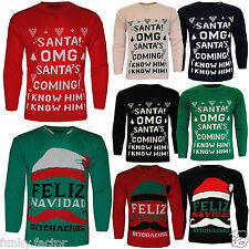 WOMENS MENS LADIES XMAS UGLY JUMPER PULLOVER CHRISTMAS JUMPERS SWEATER
