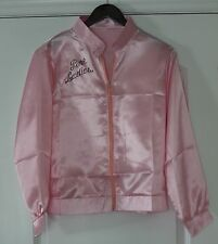 New Pink Ladies Jacket Windbreaker Top Grease Deluxe Satin Style USA Shipper