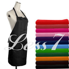 Plain Apron with Front Pocket for Chefs Butchers Kitchen Cooking Baking Craft