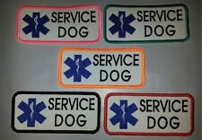 """U Pick One """"Fun Colors"""" Sew-On Embroidered Patch - SERVICE DOG WITH MEDICAL STAR"""