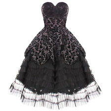 Hell Bunny Lavintage Black Gothic Victorian Steampunk Mourning Wedding Dress