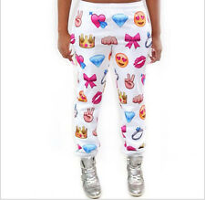 Emoji style print pants funny cartoon sweatpants long joggers trousers