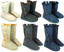 "Womens Faux Fur Boots Winter Suede Snow Calf Sheepskin Shoes Boots "" US seller """