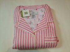 NWT Karen Neuburger Pink Stripe Long Sleeve 2 Pc Pajamas Set Plus Size 1X NEW