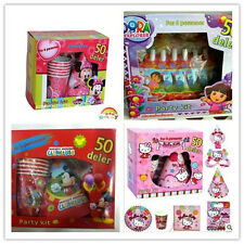 Disney Birthday Party Supply Decoration Tableware kit pack for 6 Gift Box