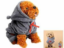 Bear Style High Quality Pet Dog Winter Overcoat Puppy Hoodies Clothes w/ 4 Legs