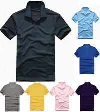 Fashion Mens Button POLO Shirt Short Sleeve Cotton T-shirt Casual Blouse Tops