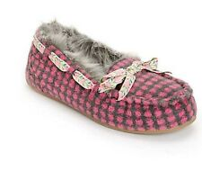 NEW IN BOX WOMENS ALL SIZE ROCKET DOG REGAN PINK FAUX FUR SLIP ON SLIPPERS SHOES