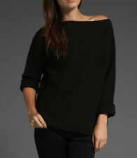 NWT VINCE Ribbed Boatneck Sweater in midnight/Navy $285
