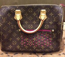 BNWT LIMITED EDITION LOUIS VUITTON LEATHER SPEEDY PERFORATED BAG HANDBAG 30