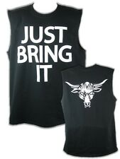 The Rock Just Bring It Brahma Bull Sleeveless Black Muscle T-shirt