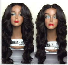 Brazilian human remy Hair  Full lace /lace front wigs 1B Off black body wave