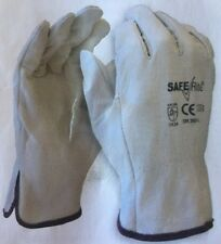 Pkt/12 Pairs - Saferite - SR202 -  Premium Cow Grain Riggers Gloves