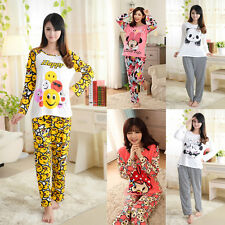 Womens Bunny Mouse Panda Print PJ Pyjama Set Night Wear PJ's Pyjamas Sets