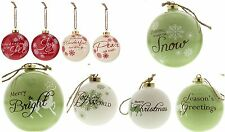 3 Pack Deluxe Festive Glazed Large Christmas Tree Bauble Baubles, Great Quality