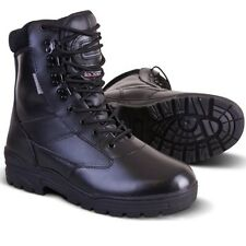MENS LEATHER SWAT BOOTS MILITARY 3M THINSULATE COMBAT PATROL ARMY BIKER SECURITY