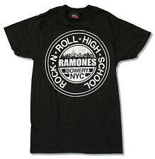 "RAMONES ""ROCK N ROLL HIGH SCHOOL"" BLACK T-SHIRT NEW OFFICIAL ADULT"