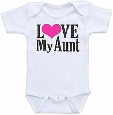 Love My Aunt Cute Baby Onesie Funny Onsie Clothing Cool Unique Shower Gift Aunte