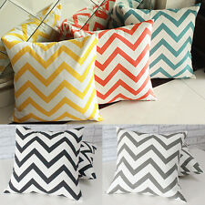 "Waves Pattern Pillow Case Cotton Linen Throw Pillow Home Decoration 16.9"" Cover"