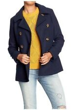 NEW WOMENS S L XXLT OLD NAVY CLASSIC WOOL BLEND PEACOAT IN THE NAVY BLUE COAT