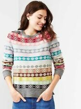 NEW WOMENS ALL SIZES GAP HOLIDAY FAIR ISLE NORDIC MULTI STRIPE SWEATER JUMPER