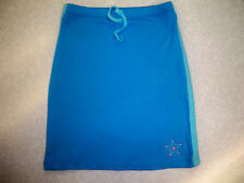 girls Turquoise blue Stretch pull-on skirt  size  7-8 years - new
