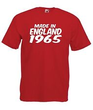 MADE IN ENGLAND 1965 50th birthday party present gift ideas mens womens T SHIRT
