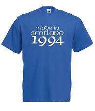MADE IN SCOTLAND 1994 21st birthday party present gift ideas mens womens T SHIRT