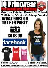 Facebook Hen T Shirts Hen Do Party Night T-shirt Ladies Printed Personalised