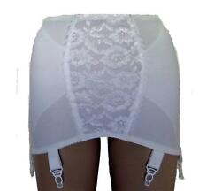 Ex M&S Vintage Style Roll On White Girdle with 6 Suspender Straps NEW Sz 10 - 20