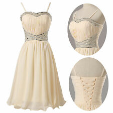 SHORT Beaded Homecoming Quinceanera Gowns Evening Party Dresses Prom Semi Formal