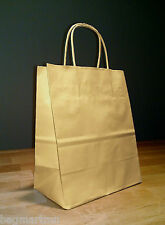 8x4x10 (approximate) Kraft Brown Paper Cub Shopping Gift Bags with Rope Handles