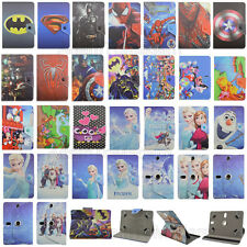 "Folio Fold Super Hero Cute Kids Cartoon Leather Case Cover For 7"" RCA Tablet PC"