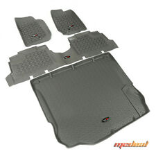 Rugged Ridge Floor Liner Kit, Gray, 11-15 Jeep 4-Door Wrangler # 14988.04